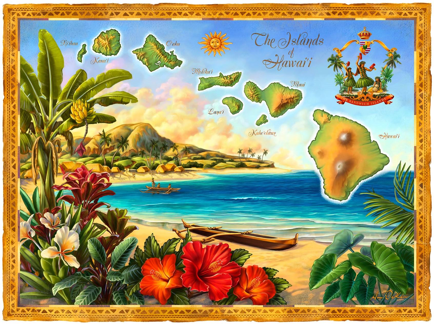 Открытка гавайская