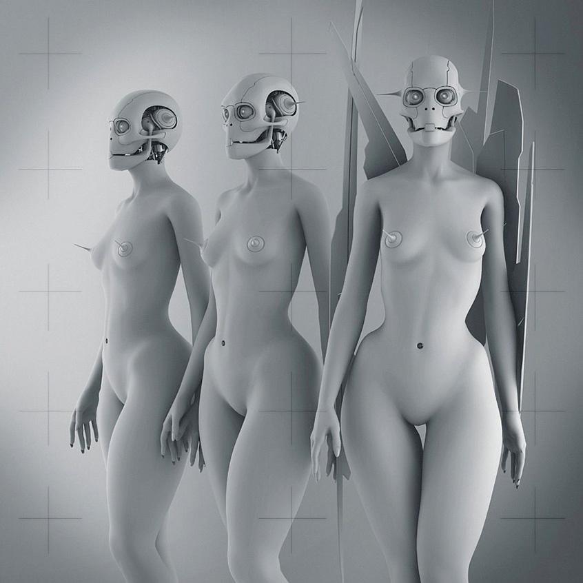 Nudes sci fi art