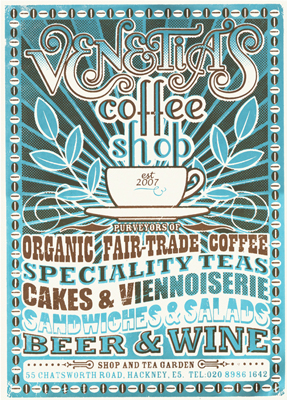 illustration of Lettering, Stylized, Silk Prints, Posters, Food/Beverage, Vintage / Retro