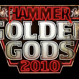 illustration of Logo design for the 2010 Metal Hammer Golden Gods awards. 3D, Heavy Metal, Neon, rust