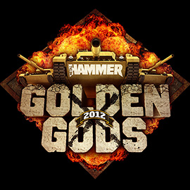 illustration of Logo design for the 2012 Metal Hammer Golden Gods awards. Metal Hammer, Heavy Metal, explosions, tanks,