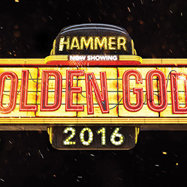illustration of Logo design for the 2016 Metal Hammer Golden Gods awards. 3D, Heavy Metal, Neon, rust