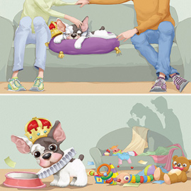 illustration of Digital, Humor, Animals, Children's Books, Family, Food, Leisure, People, Lifestyle