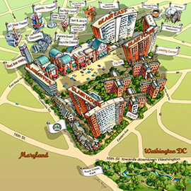 illustration of Line with Color, Architecture, Corporate, Editorial, Maps, Technology, Travel, Lifestyle, Urban, Branding