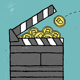 illustration of Cartoon, Film/Entertainment, Icons, Financial