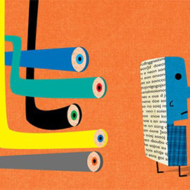 illustration of industry, graphic, editorial
