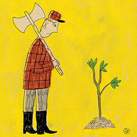 illustration of Conceptual, Graphic, Line with Color, Humor, Editorial, Nature, People