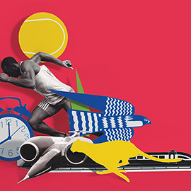 illustration of Collage, Cut Paper, Montage, Photoillustration, Action, Editorial, Sports, Transportation