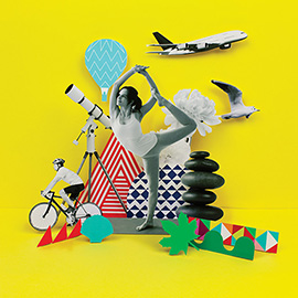 illustration of Collage, Cut Paper, Digital, Paper Sculpture, Annual Report, Editorial, People, Sports, Lifestyle