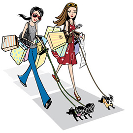 illustration of Logo and character design for online shopping site