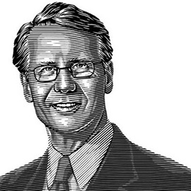illustration of Commissioned as part of a series of portraits for a corporate brochure