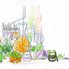 illustration of Pencil, Watercolor, Fashion/Cosmetics, Nature, Posters, Product, Science, Still Life