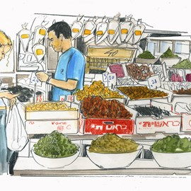illustration of Figurative, Pencil, Watercolor, Editorial, Food, Icons, People, Lifestyle