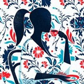 illustration of Design, Painterly, Silhouette, Floral, Pattern, Editorial, Fashion/Cosmetics, People, Lifestyle, Feminine