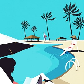 illustration of Digital, Graphic, Silk Prints, Posters, Product, Travel, Lifestyle