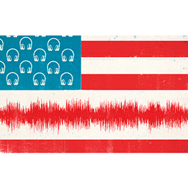 illustration of Conceptual, Design, Digital, Graphic, Vector, Music, Political, Americana