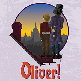 illustration of White Plains Performing Arts Center's Production of Oliver!