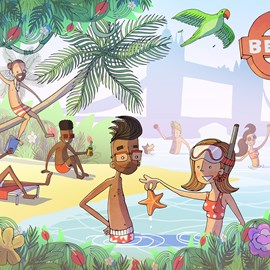 illustration of Beach