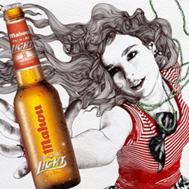 illustration of Figurative, Pencil, Stylized, Action, Fashion/Cosmetics, People, Posters, Food/Beverage, Feminine