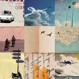 illustration of Collage, Design, Montage, Photoillustration, Editorial, Transportation, Travel, Lifestyle