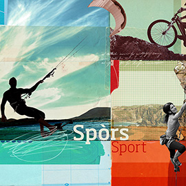 illustration of Collage, Digital, Photoillustration, Editorial, People, Sports