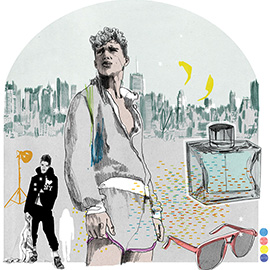 illustration of Conceptual, Line, Pen & Ink, Stylized, Editorial, Fashion/Cosmetics, Landscape, People, Portrait, Lifestyle