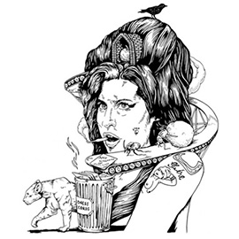 illustration of Winehouse