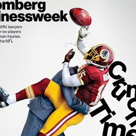 illustration of Bloomberg Businessweek Cover Crunch Time