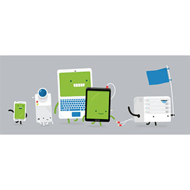 illustration of Digital, Graphic, Vector, Character Development, Product, Technology