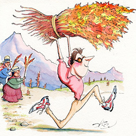 illustration of Conceptual, Pen & Ink, Watercolor, Humor, Editorial, Food, Nature, People, Sports, Agriculture