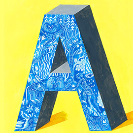 illustration of Acrylic, Conceptual, Lettering, Painterly, Pattern, Editorial