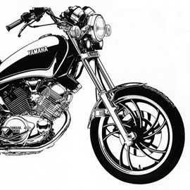illustration of Pen & ink illustration for Yamaha