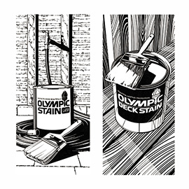 illustration of Pen & ink illustrations for Olympic Paint