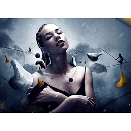 illustration of Digital, Montage, Photoillustration, Stylized, Fashion/Cosmetics, Mystery, People, Feminine, Edgy