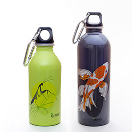 illustration of Two EarthLust Bottle Designs.