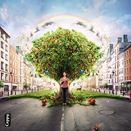 illustration of Conceptual, Design, Graphic, CGI, Food, Nature, People, Food/Beverage
