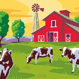 illustration of New Illustrated logo for a famous Napa Valley Dairy, Joseph Farms.