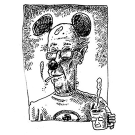 illustration of mouse ears mice smoking cigarette coffee health medicine medical brain testing animal consumer