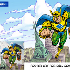 illustration of Poster Art for Dell Computer