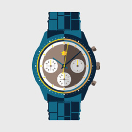 illustration of luxury watch vector icon design timepiece
