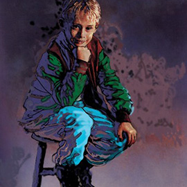 illustration of Macaulay Culkin, child star, actor
