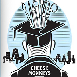 illustration of Cheese Monkeys book cover