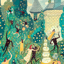 illustration of Gouache, Painterly, Whimsical, Editorial, Family, People, Romance, Lifestyle