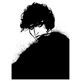 illustration of Black & White, Graphic, Line, Pen & Ink, Icons, Mystery, People, Web Illustration