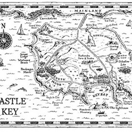 illustration of Map from the series of Book, Island of Adventure, written by Helen Moss and published by Orion.