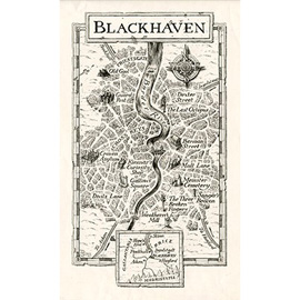 illustration of Map from the series of books, Fighting Fantasy, published by Puffin Books.