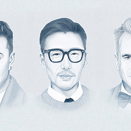 illustration of male, gentleman, realistic, groomed, haircut, style, classic