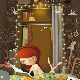 illustration of Digital, Children, Fantasy, Leisure, People, Portrait, Lifestyle, Youth, Environmental