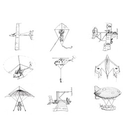 illustration of Black & White, Line, Pencil, Technical, Science, Scientific, Transportation