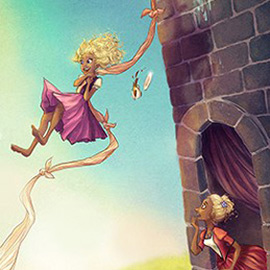 illustration of Digital, Whimsical, Action, Adventure, Book Covers, Children's Books, Youth